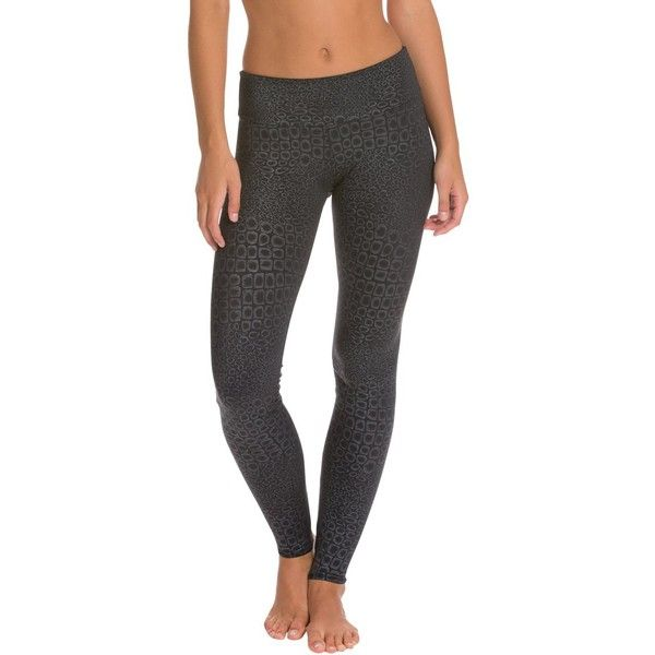 Onzie Long Yoga Leggings ($49) ❤ liked on Polyvore featuring activewear, activewear pants, yoga activewear, petite activewear, onzie, petite activewear pants and petite sportswear