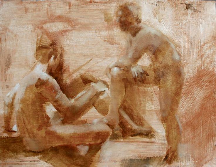"Saatchi Online Artist: Gardies Roche; Oil, Painting ""Castor and Pollux"""