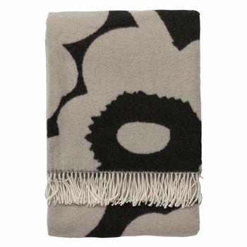 Marimekko Unikko Black/Grey Blanket  #pintofinn