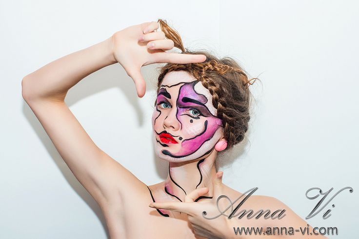 Creative makeup 2-D Ph: Dmitriy Melnichenko Md: Anna Yadak MuaH: Anna Vi
