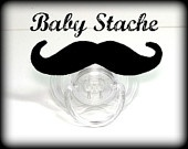 Mustache Pacifier - Baby Mustache - The Wise Guy. $10.00, via Etsy.