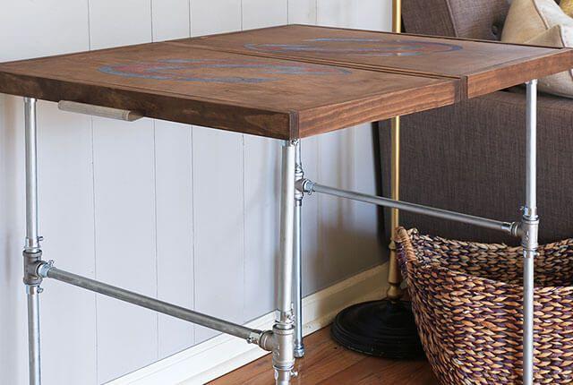 DIY Industrial Folding Table