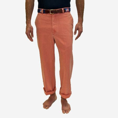 Nantucket Red Collection Men's Plain Front Pants - Nantucket Red