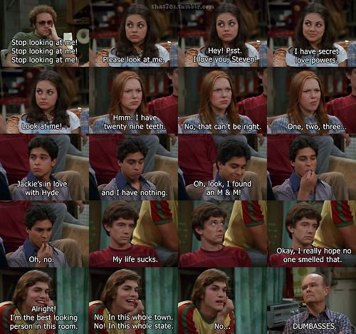 That 70s Show - thoughts of hyde jakie donna fez eric kelso red