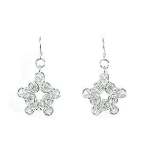 Sterling silver chainmaille earrings