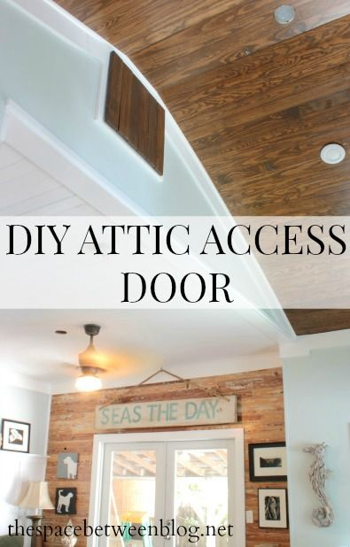 DIY a simple and stylish attic access door.  So many great DIY projects on this blog.  They are renovating an entire house, one DIY at a time.