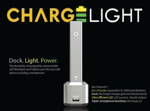 Meet The ChargeLight That Does Double Duty as a Portable Charger - SIJUTECH