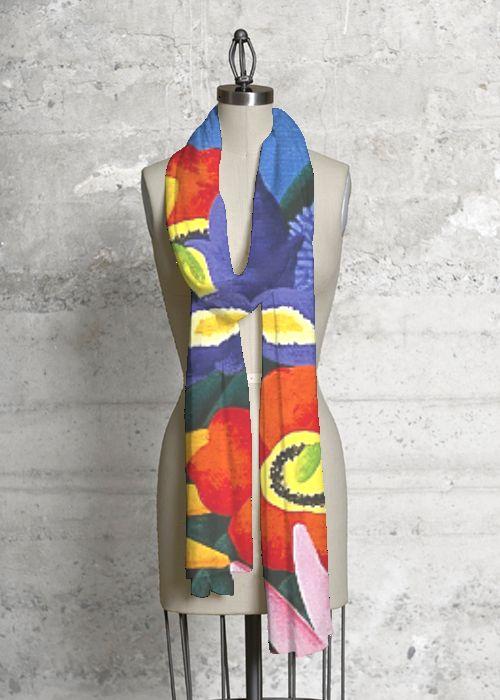 Joanne Netting Design - Floral Fiesta 2 - Modal Scarf for VIDA Design Studio