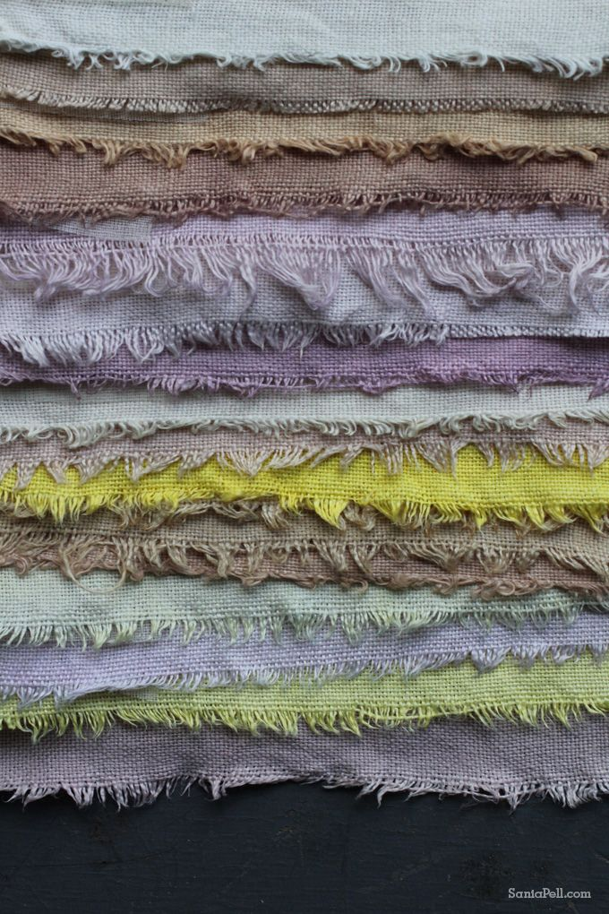 Homemade fruit and vegetable fabric dyes by Sania Pell............fantastically beautiful!