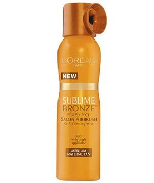 L'Oréal Paris Sublime ProPerfect Salon Airbrush Self-Tanning Mist | You know that getting a faux glow with self-tanner is much safer than basking in the sun or a bed. But self-tanners are notorious for being messy and stinky. Here, six formulas that will leave your skin looking sun-kissed—minus those telltale streaks.