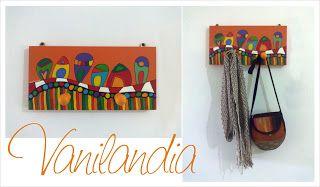 Perchero Hogar, dulce hogar Las casitas de Kandinsky - Obra: Alrededor del Circulo - W. Kandinsky