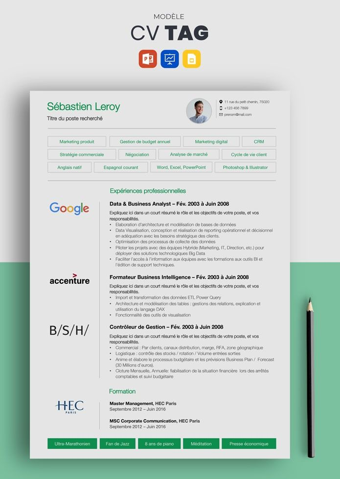 Cv Google Modele De Cv Simple Et Efficace A Telecharger Modele Cv Cv Simple Exemple Cv