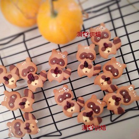新款森林动物系不锈钢浣熊可爱小熊猫翻糖霜曲奇饼干模切模具