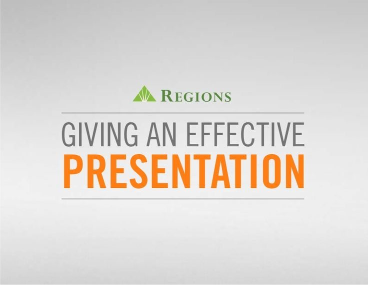 There's an art to delivering great presentations. Here are a few tips to help you prepare, design, and deliver a presentation your audience will remember.  http://go.regions.com/1vx52A3