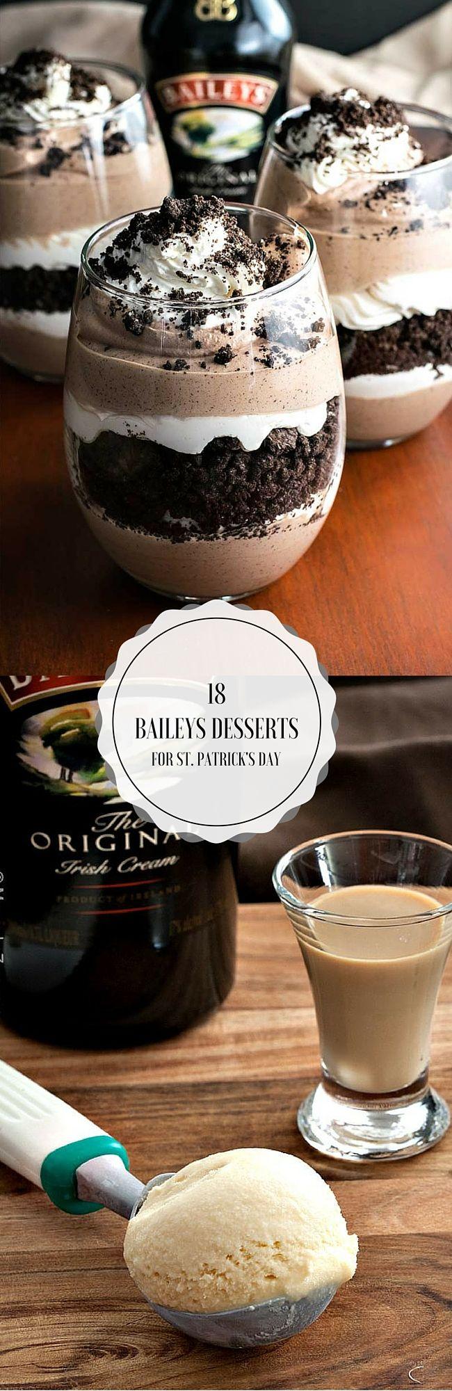 18 BAILEYS DESSERTS