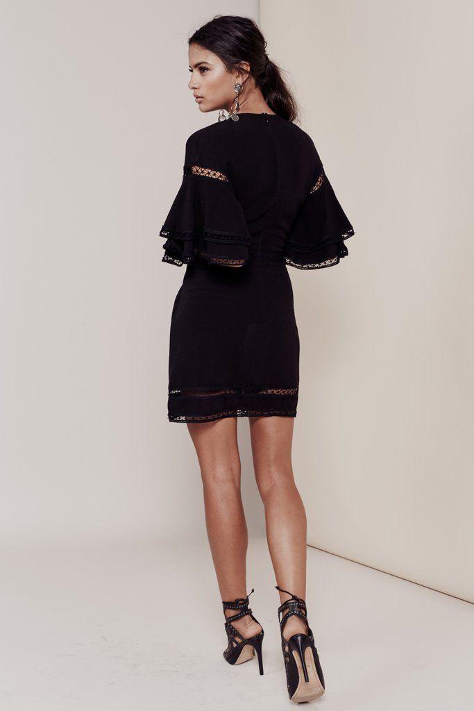 Carmines with black laces dresses