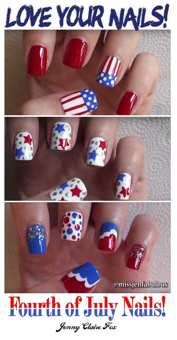 Had a great time getting ready for the 4th with Jenny Claire Fox - Love those 4th of July Nails ... @missjenfabulous @design @graphics @60seconds