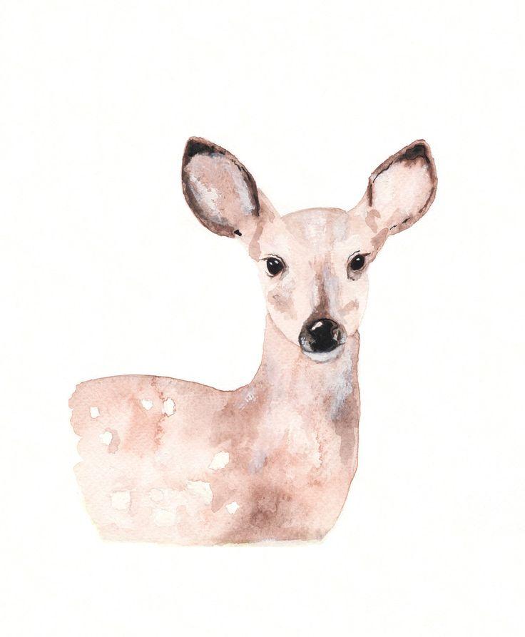 Print aquarelle fauve/cerf/Tan/crème/Beige/brun / Archives par kellybermudez sur Etsy https://www.etsy.com/ca-fr/listing/86349593/print-aquarelle