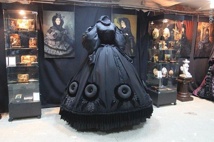 Траурное платье 19 век