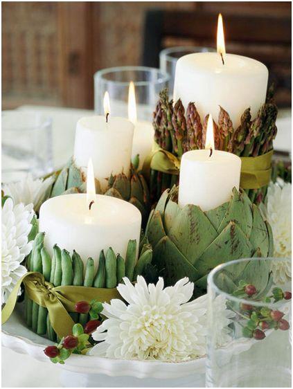artichoke candle holders