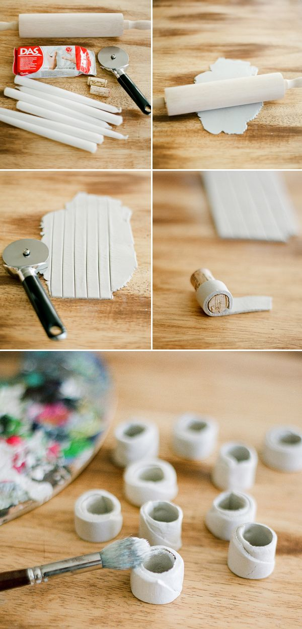 Make my own napkin rings...(this particular direction set is for candle holders, but the same concept works)