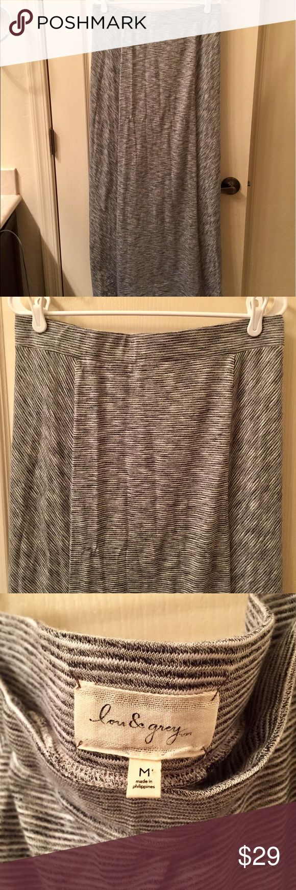 Lou & Grey Maxi Skirt Blue/White Sz Medium Lou & Grey maxi skirt in blue/white striped sz medium. Comfy material, can be dressed up or down. Perfect for Spring/Summer. Like new, worn once, excellent condition. Retails for $69. Lou & Grey Skirts Maxi