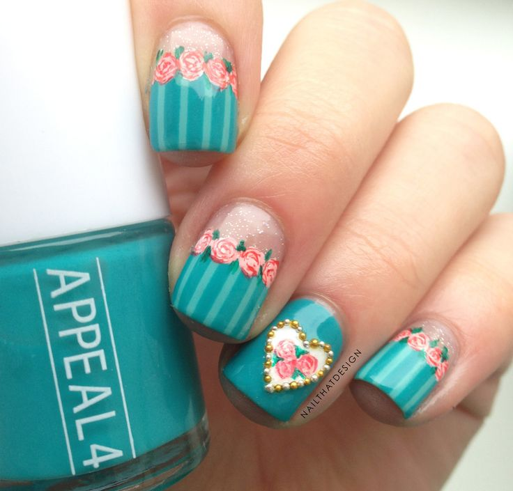 Acrylic Nail Art Rose: 25+ Trending Teal Acrylic Nails Ideas On Pinterest