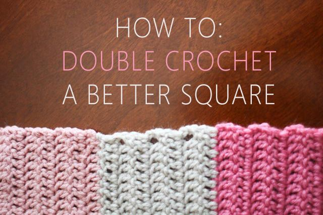 How to clean up edges of double crochet squares or rectangles, also includes a simple afghan pattern ★•★•Teresa Restegui https://www.pinterest.com/teretegui/★•★•