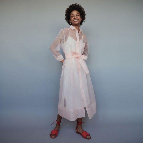 ROANE Pink | | Robe chemise, Robe chemise longue et