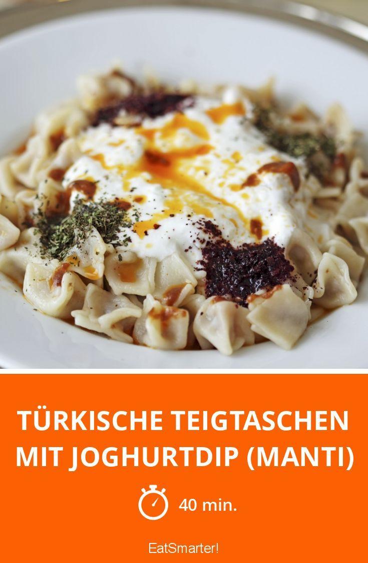 Türkische Teigtaschen mit Joghurtdip (Manti)
