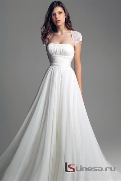Простое свадебное платье без корсета