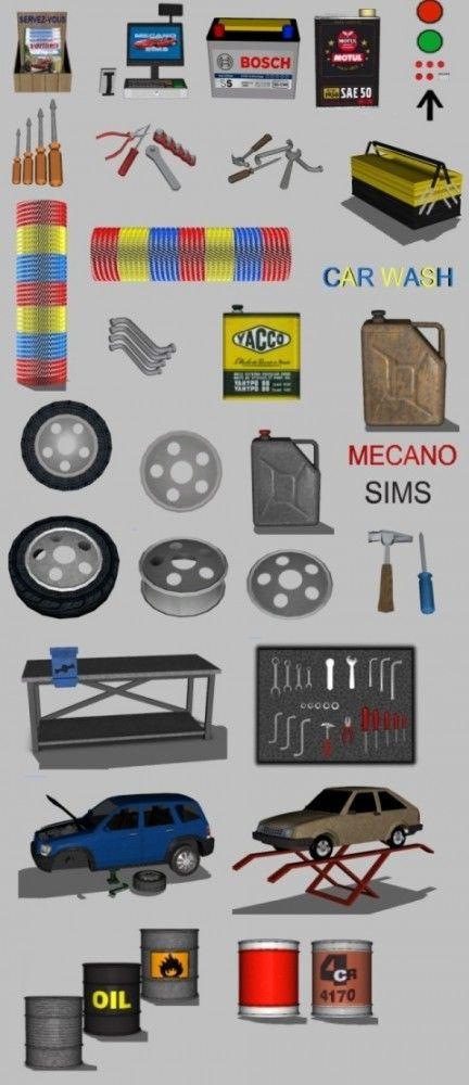 Car garage by maman gateau sims 3 downloads cc caboodle for Garage auto 7