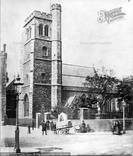 London, Church of St Mary-at-Lambeth c1860