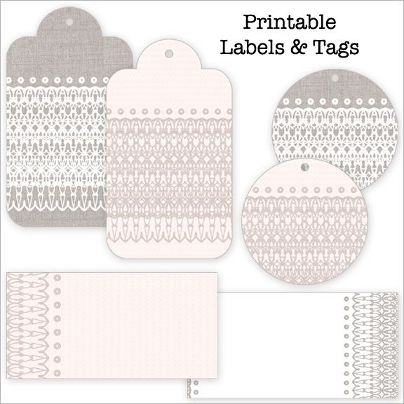 Tags: Printable Labels, Diy Gifts, Lace Tags, Aan Cadeautj, Gifts Tags, Free Printable, Wraps Gifts, Printable Gifts, Lace Patterns