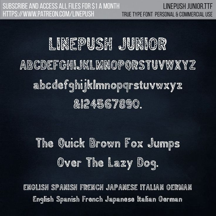 Linepush Junior font. True type font. | Line Push on Patreon    Chalkboard font  bbq font  country font  hipster font  school font  college font  student life font  crayon font  bbq chalkboard coffeeshop font
