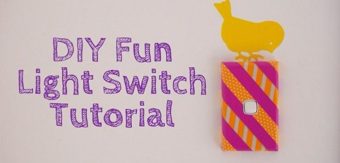 DIY Fun Light Switch Tutorial