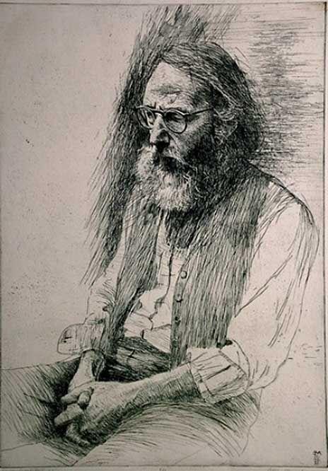 Harvey Dinnerstein, etching // by Bill Murphy