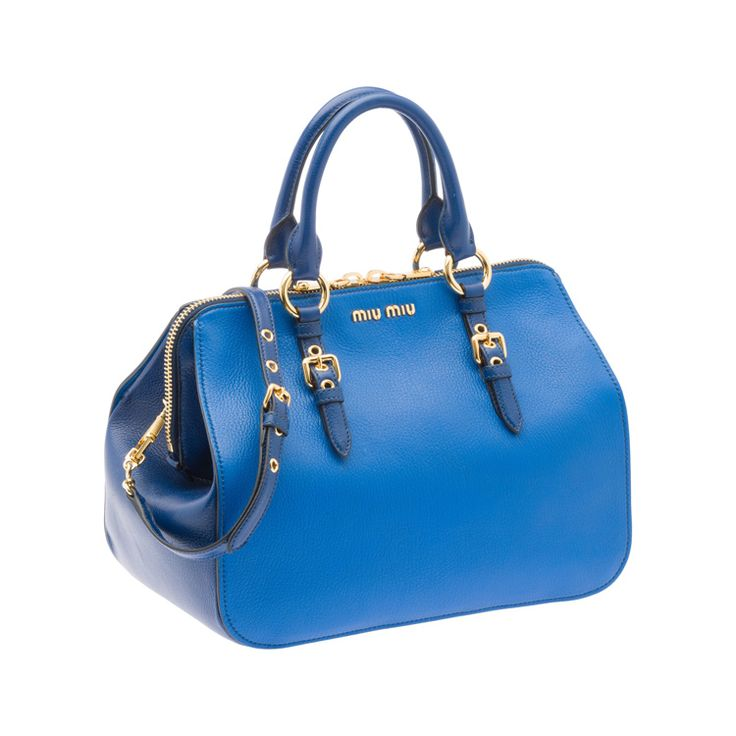 Miu Miu RL0060 2A11 F0OHI Madras Bicolore Top Handle – Cobalt Blue
