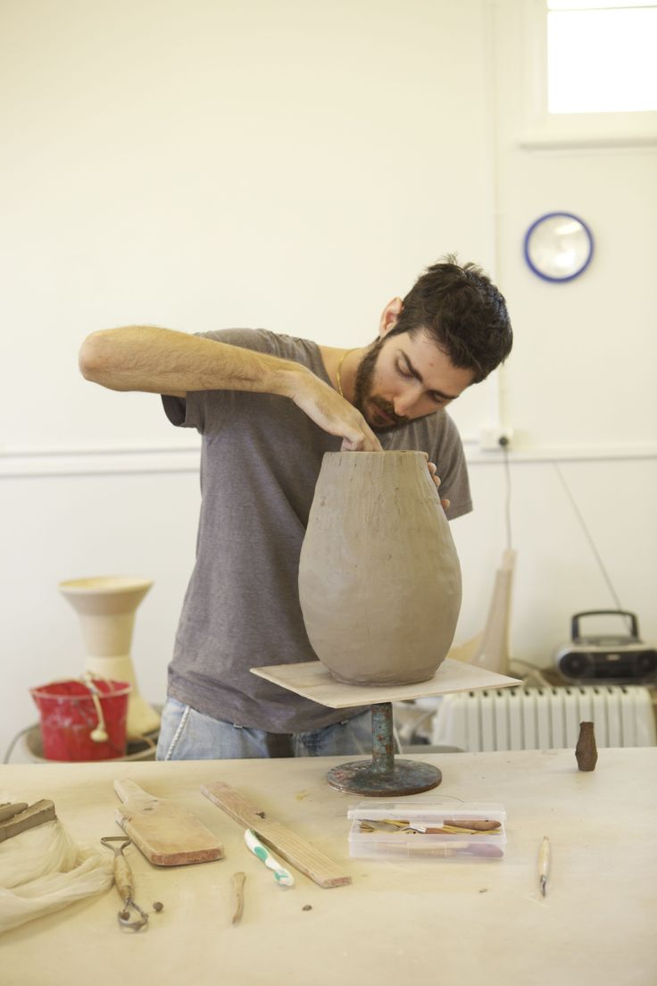 Inside the ceramics studio at FAC