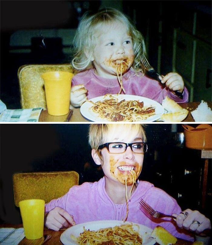 6.) Spaghetti is still her favorite food.