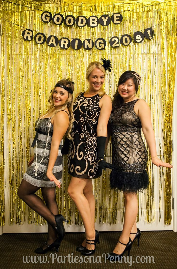 My Goodbye Roaring 20's 30th Birthday Party: photo backdrop  www.PartiesonaPenny.com