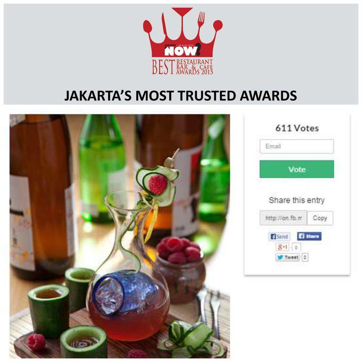 Give your vote for Sake+ for The Best Japanese Restaurant on #BRBCA2015! #Jakarta #NOWJakarta #LifeinTheCapital #BRBCA #Best #Japanese #Restaurant #Category #Awards #Event #JKTEvent #Sake #Sake+ #SakePlus #SakePlusID #SakePlusJKT #SakePlusJakarta #Indonesia #Lunch #Brunch #Dine #Diner #Dining #Hangout