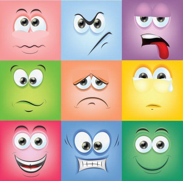 Caras De Dibujos Animados Con Emociones Imagenes De Emociones Emociones Dibujos Caras Emocion