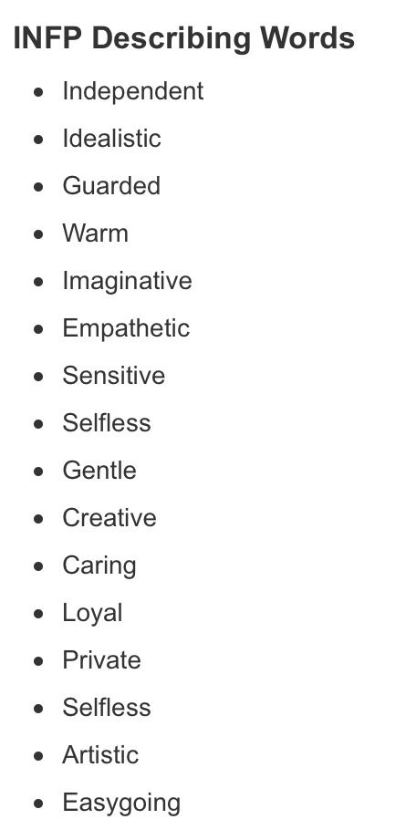 Descriptive words for dating profiles