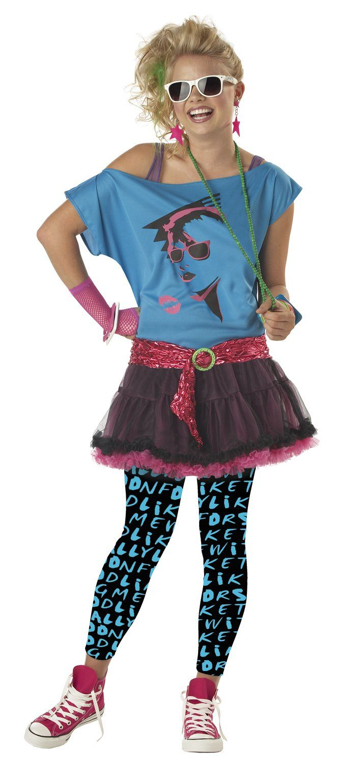 costumes for girls age 1011 80's Valley Girl Costume