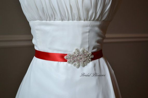 39 best Bridal Rhinestone Sashes images on Pinterest | Wedding ...