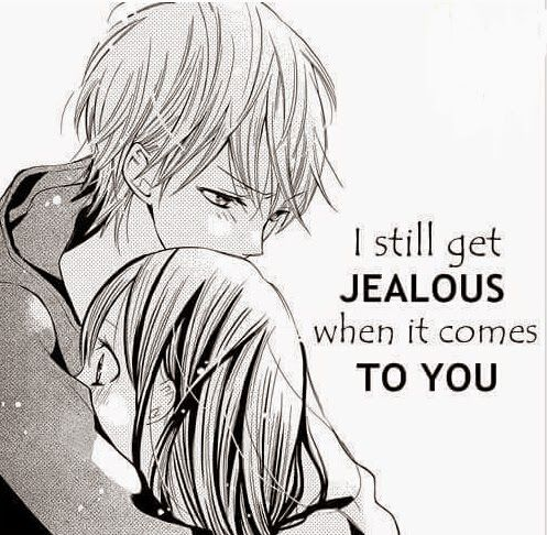 Anime Boyfriend Couple Jealous Love Manga Sweet Shoujo