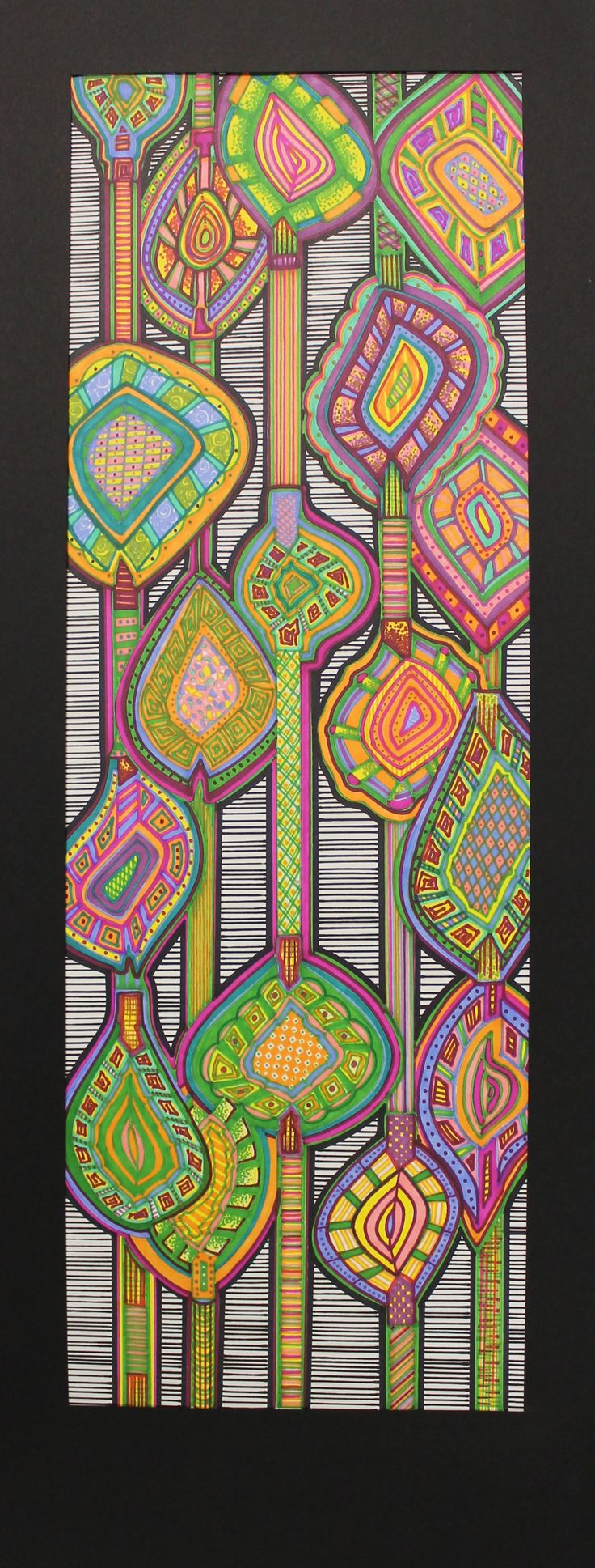 Zentangle Art inspired by vintage wallpaper patterns