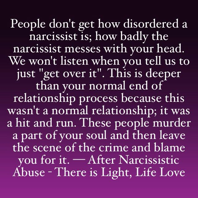 Narcissistic Abuse and why it's so hard to recover from it.