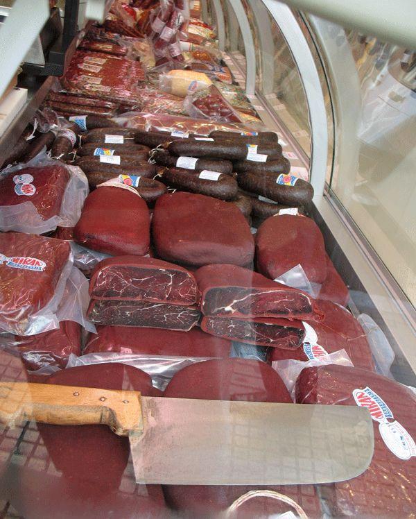 Pastirma shop (Miran) in central Athens